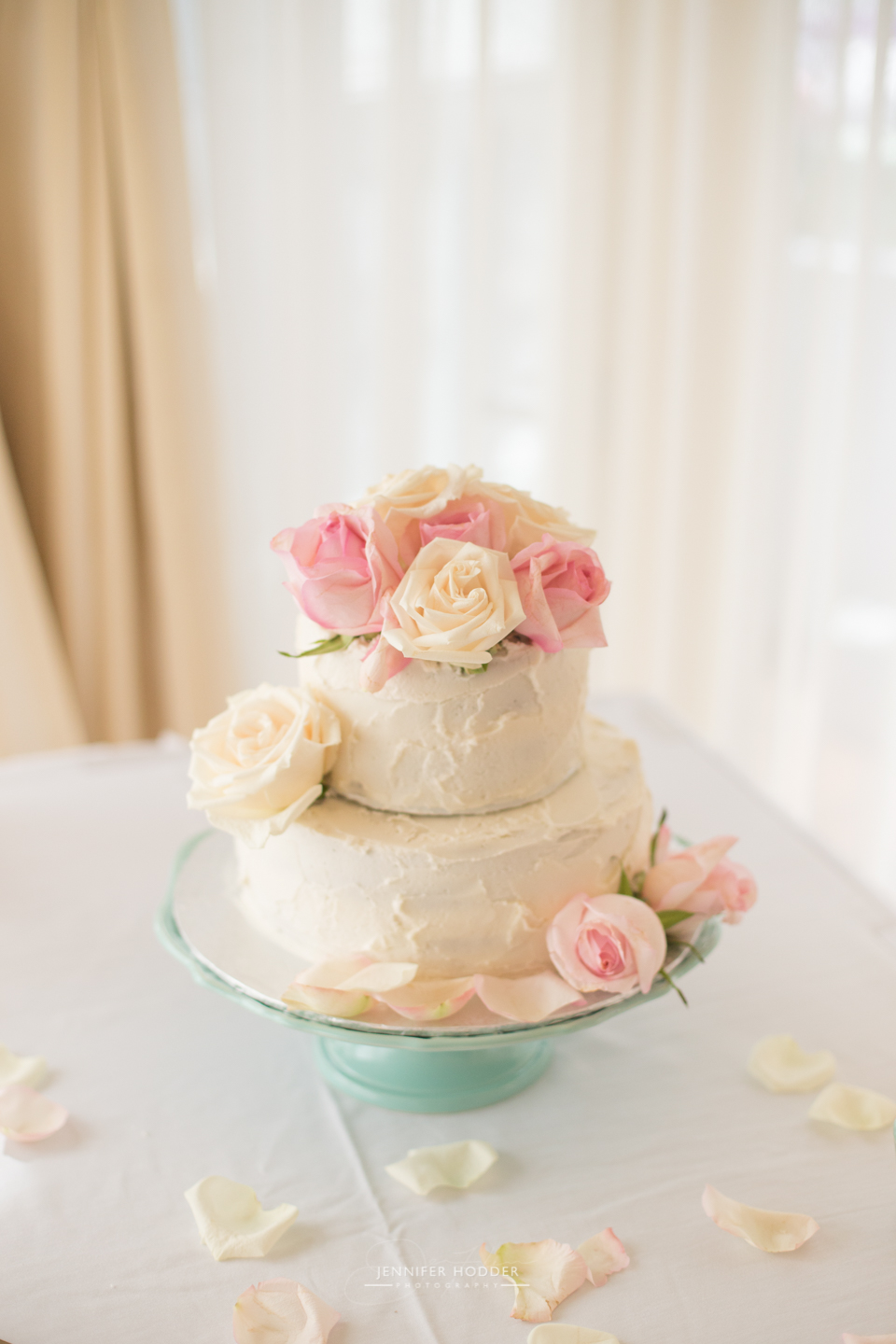 Hotel Eldorado blush wedding cake