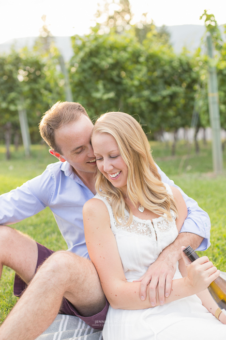 winery picnic engagement