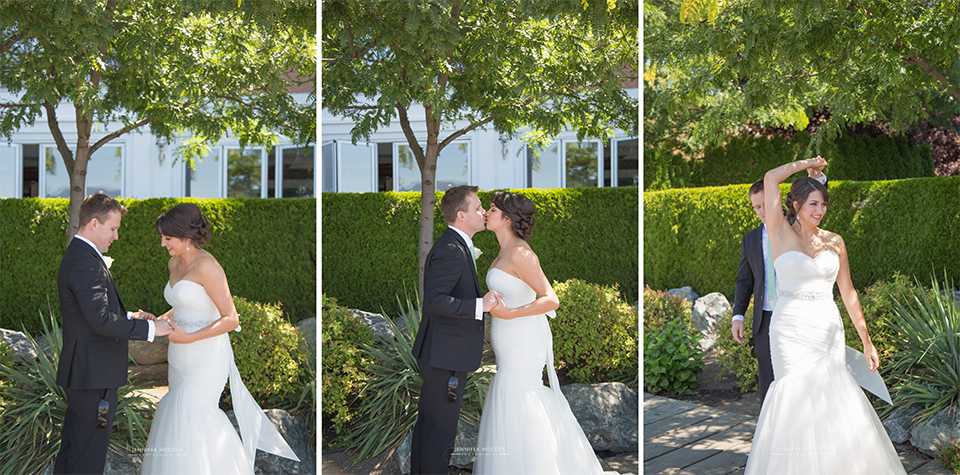 First Look at Hotel Eldorado Kelowna BC Wedding Photographer