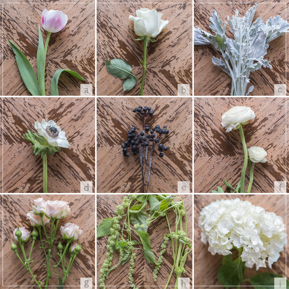 DIY spring wedding flower bouquet