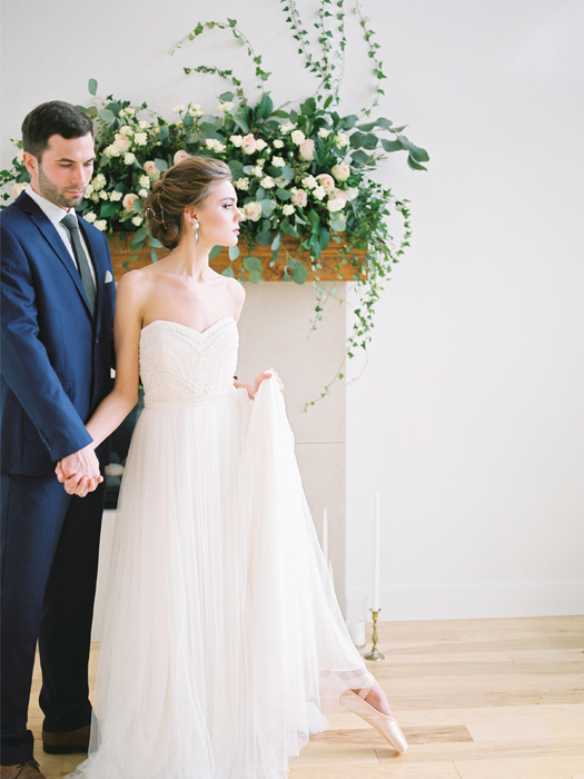 Romantic beaded lillian wild wedding dress