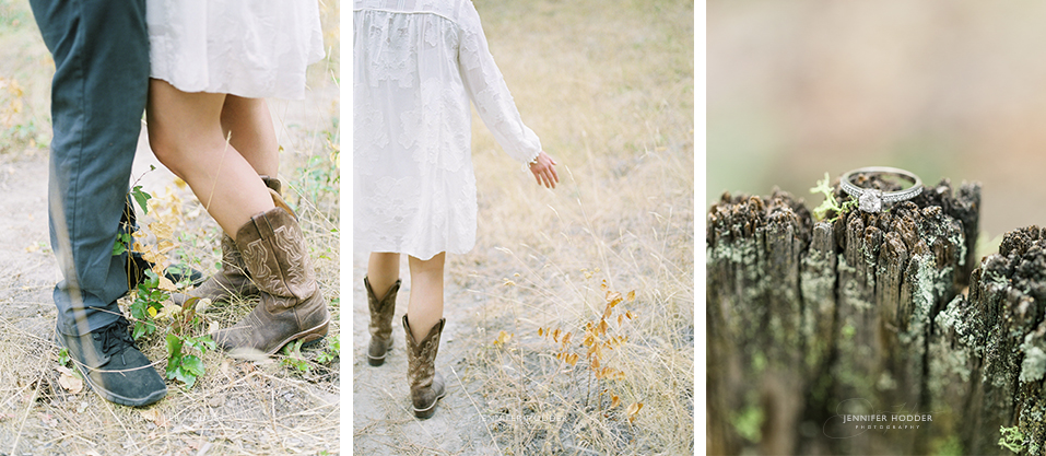 Cowboy boots engagement session