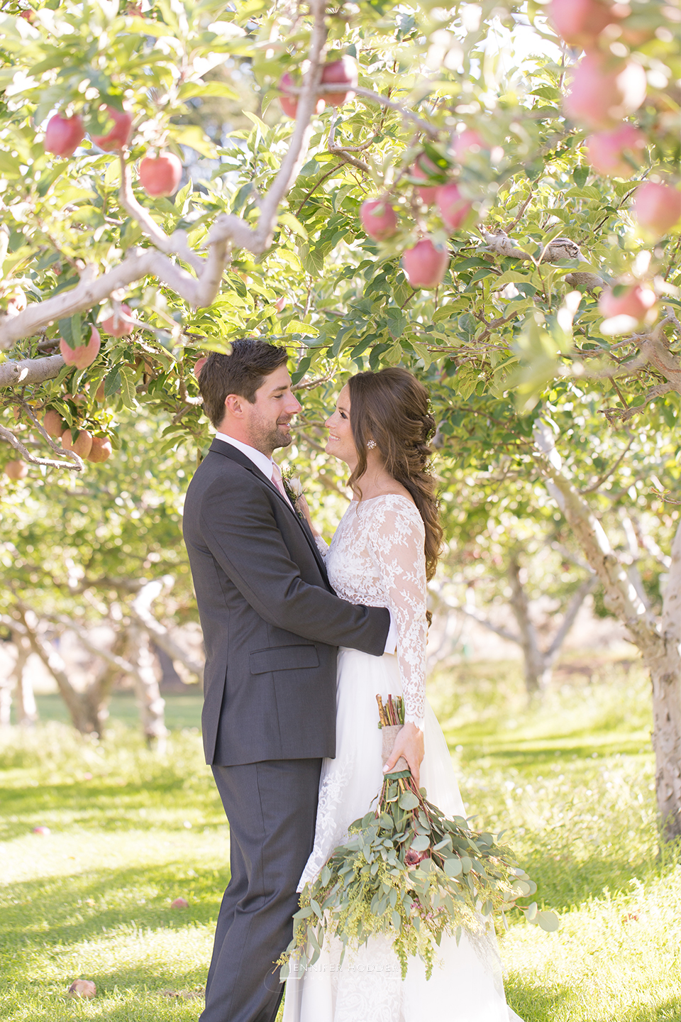 Vintage apple orchard summerland wedding photographer