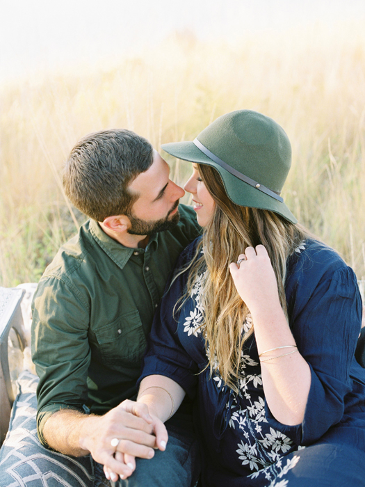 bohemian inspiration engagement photography