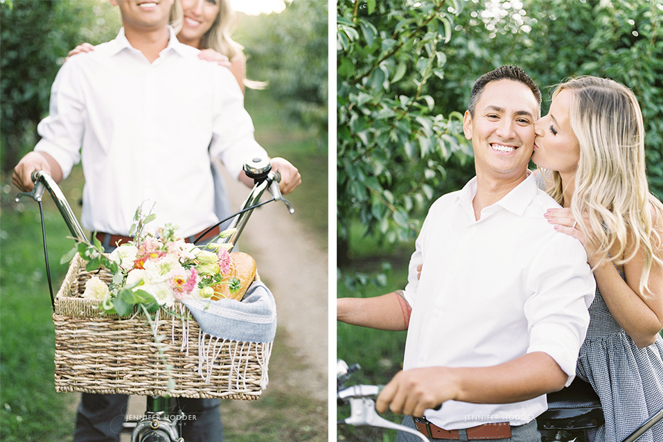 tandem bike engagement photographer