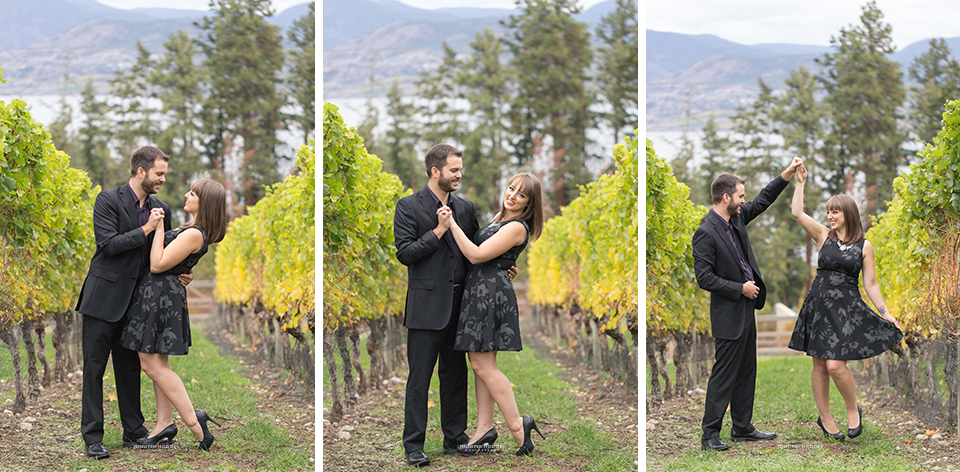 Vineyard engagement session