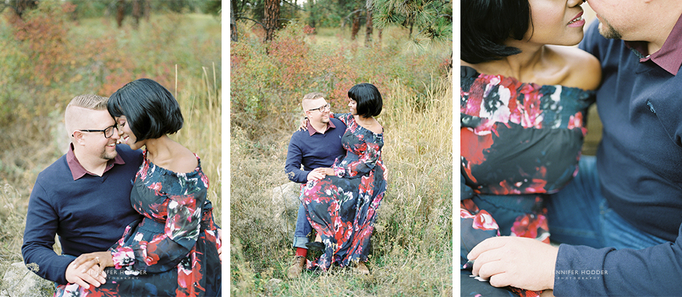 fall engagement session Kelowna BC