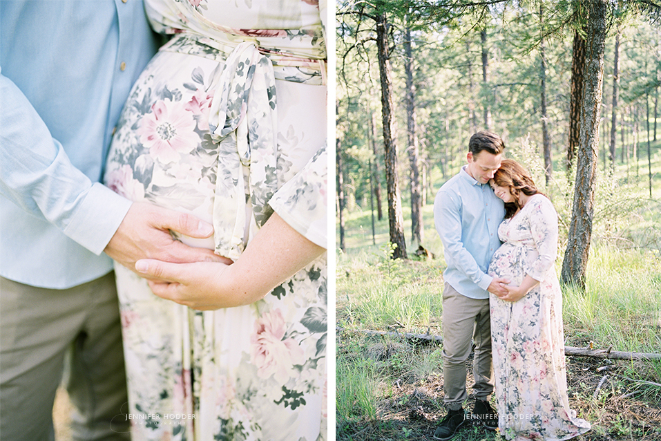 Fine art film maternity photographer
