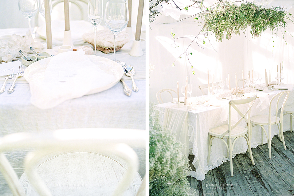 White minimal wedding inspiration