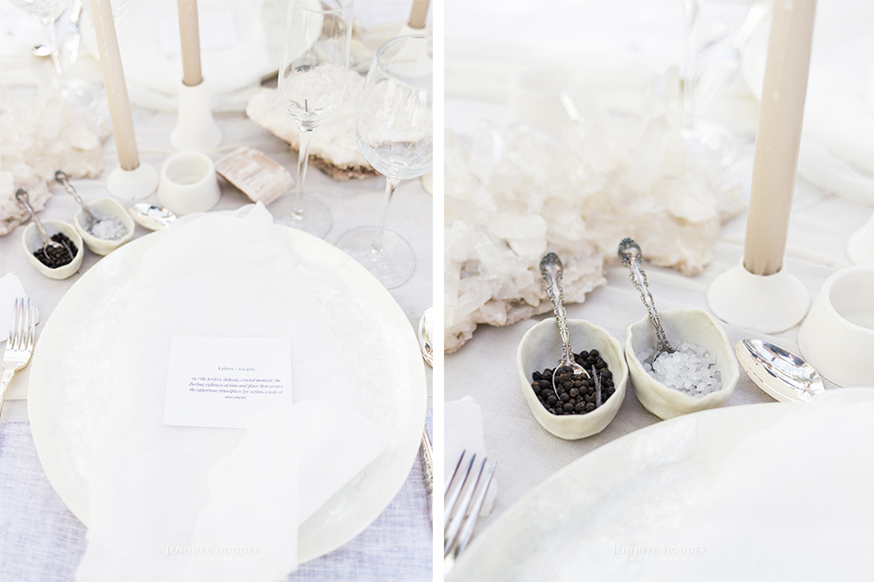 Crystal wedding inspo & mother of pearl charger plate