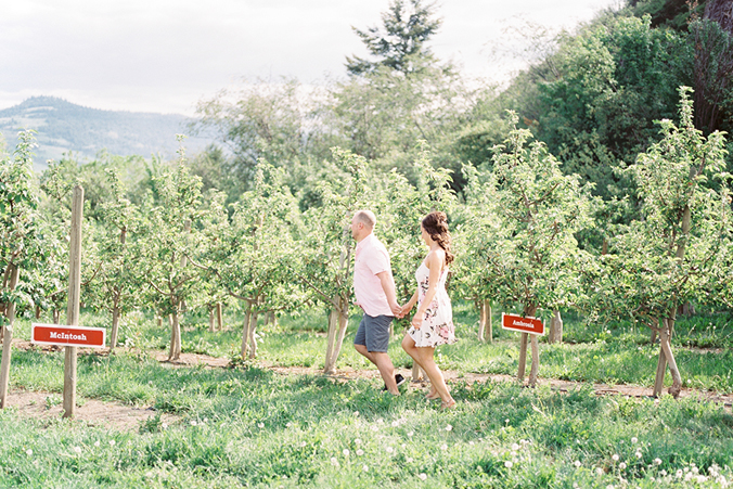 Okanagan apple orchard engagement