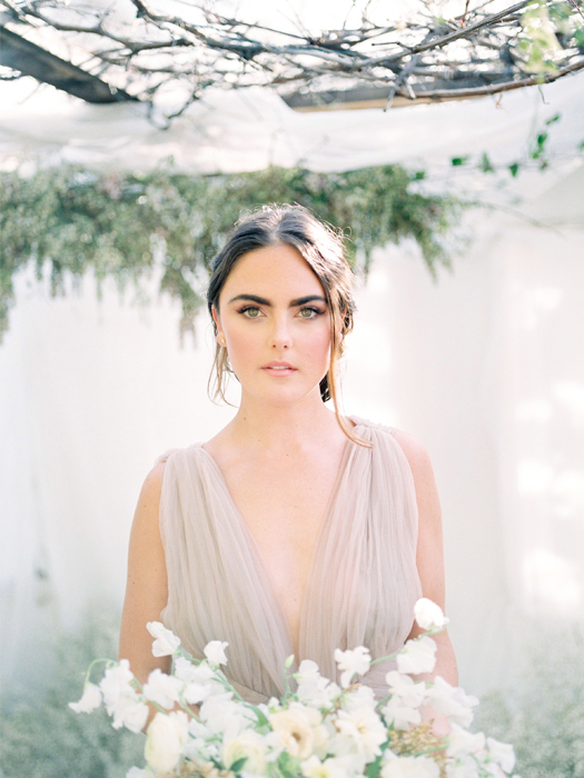 Cinobi mauve wedding dress