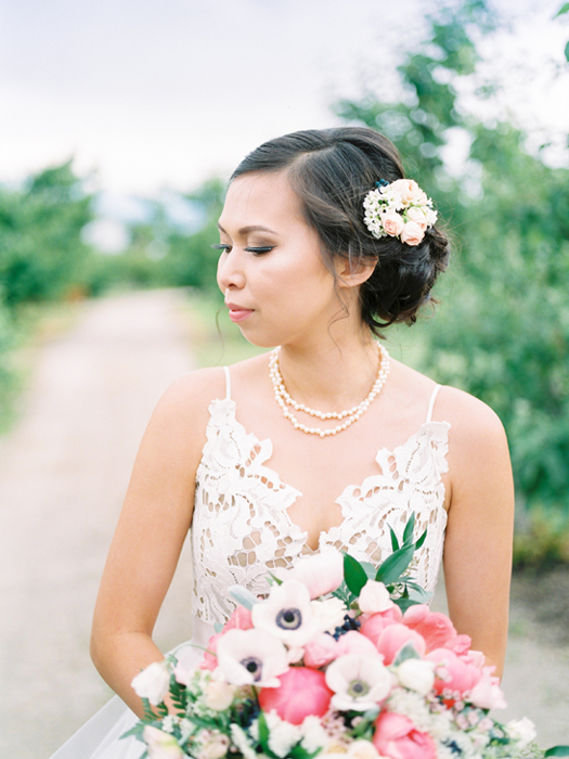 pink and white wedding inspiration