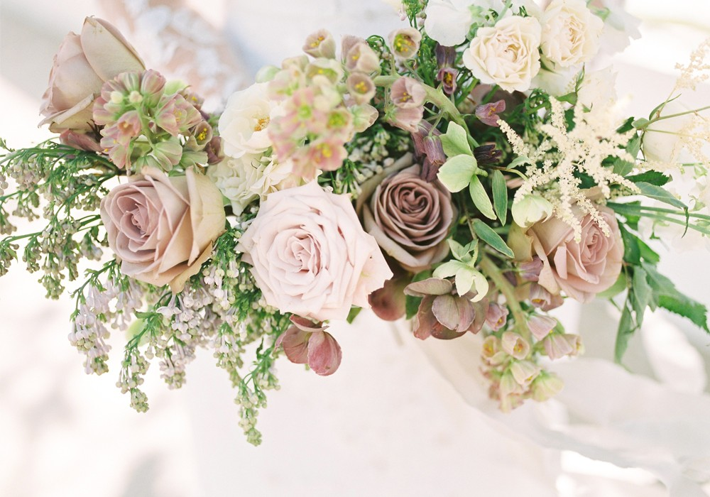 Celsia floral from Vancouver blush wedding bouquet