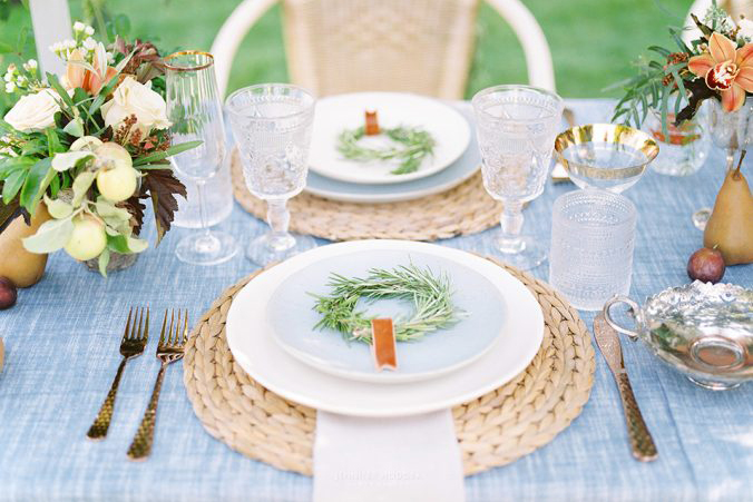 Vintage Origami Tablescape