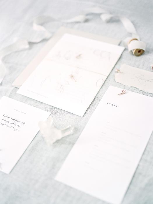 flourish calligraphy wedding invitation