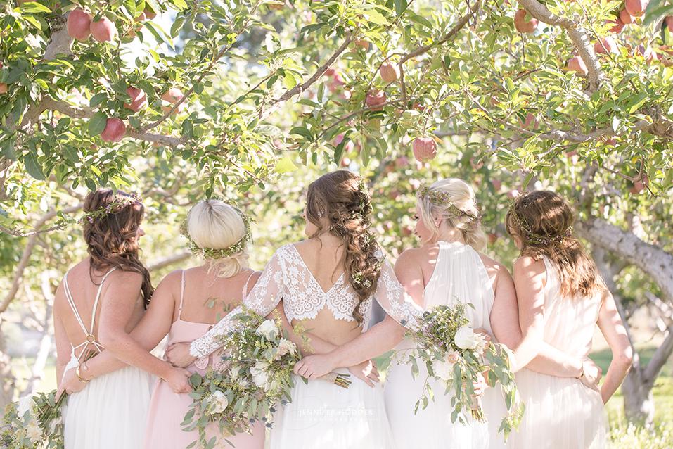 Evolve Cellars orchard wedding
