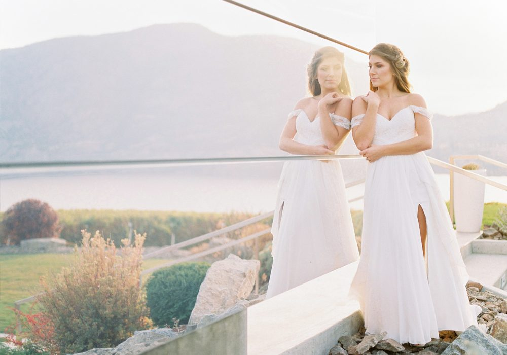 Fine art film wedding photographer at Painted Rock Winery