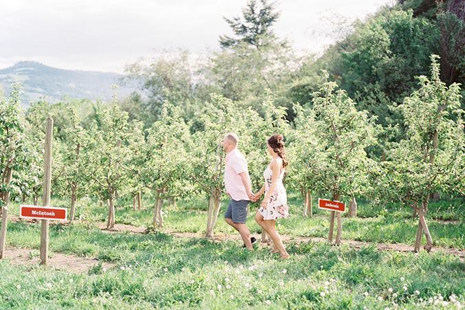 Okanagan apple orchard engagement